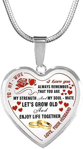 Amazon.com: AZ Regalo para marido esposa corazón colgante ...