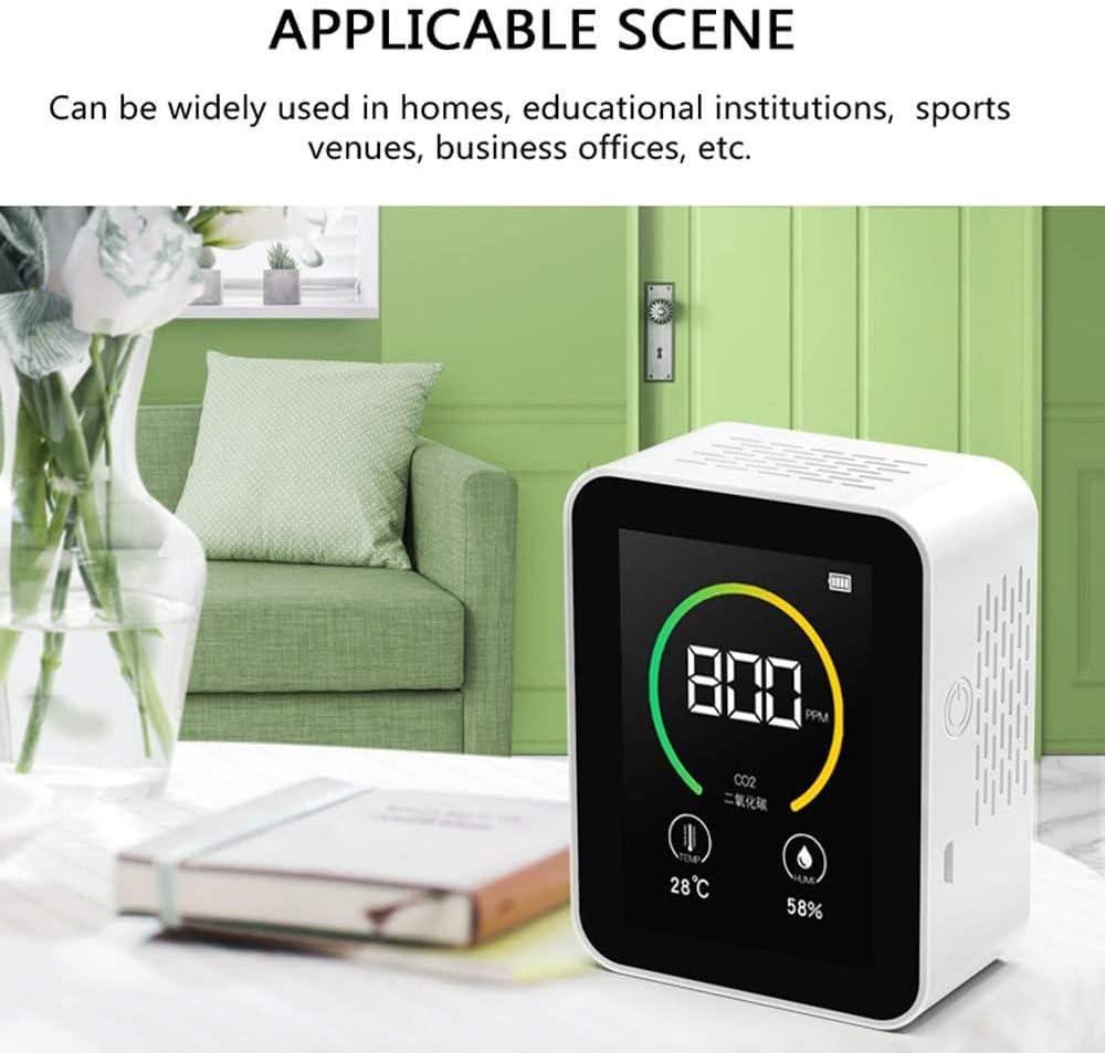 detector de rango de medici/ón 400-5000 PPM Medidor de CO2 medidor de calidad del aire TOPQSC probador de aire inteligente con pantalla
