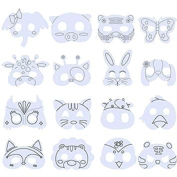 BESTZY Máscara Blanca para Pintar 16PCS Máscara de Bricolaje ...