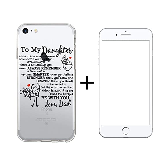for iPhone 6 Plus iPhone 6s Plus Clear Case to My Daughter Transparent TPU Cover Soft