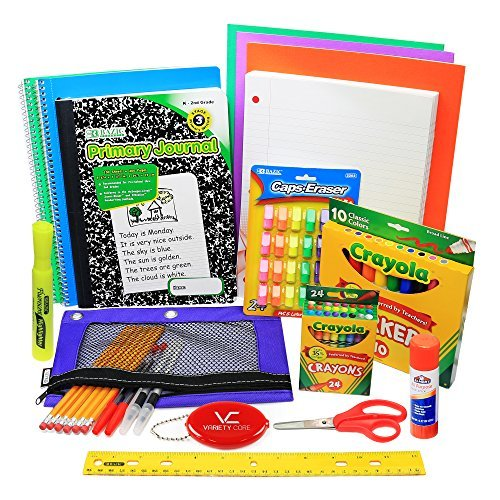 glokers First Through Fifth Grade School Supply Set, All Inclusive Elementary Supplies Bundle, Also a Complete Package of Drawing Materials for Preschool, School Supply Kit