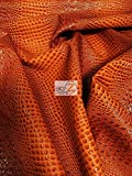 DuroLast Florida Gator 3D Embossed Vinyl Fabric by The Yard 2 Tone 3D Crocodile DIY Upholstery Accessories Apparel (Crush Orange (New Lot))