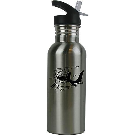 Amazon.com: Personalizado Shark botella de agua de acero ...