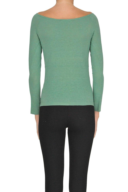 Zero At C Amazon Shirt Green Mcgltps000005072e Linen Jumper Women's PZXOiuk