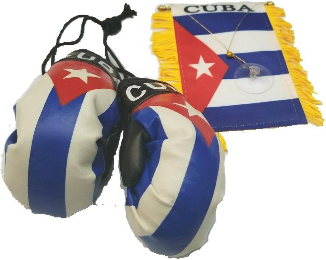 CUBA REAR VIEW MIRROR WORLD FLAG CAR BANNER PENNANT