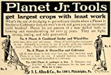 1910 Ad Planet Tools Crops Seeder Wheel Hoe Cultivator - Original Print Ad