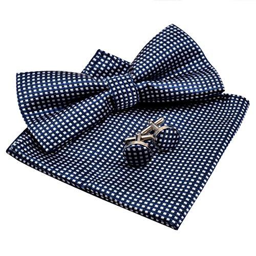 homme nœud Marine Alizeal De Manchette Papillon Bleu boutons mouchoir da5qw5
