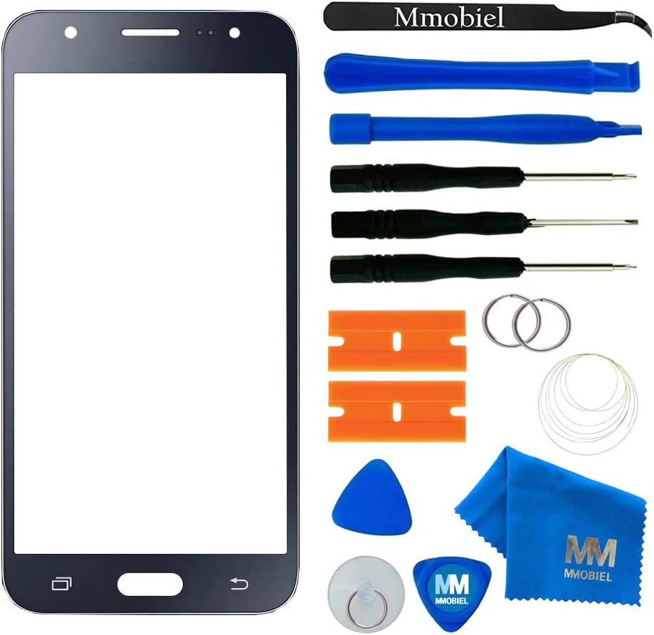 J710 MMOBIEL Front Glass Replacement Compatible with Samsung Galaxy J7 Black Display Touchscreen incl Tool Kit 2016