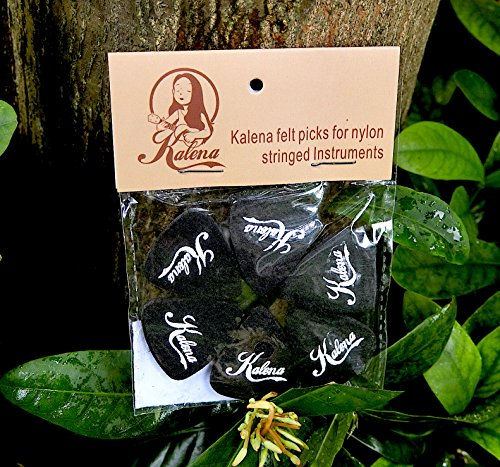 Kalena Felt Picks 6 pack for ukulele, guitar, stringed - A Kalena