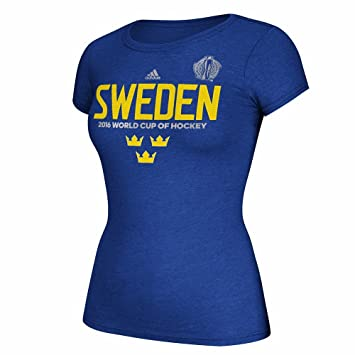 Adidas Suecia Azul 2016 Copa Mundial de la Copa del Mundo de Hockey Pride Graphic Camiseta para Mujer, M, Azul: Amazon.es: Deportes y aire libre