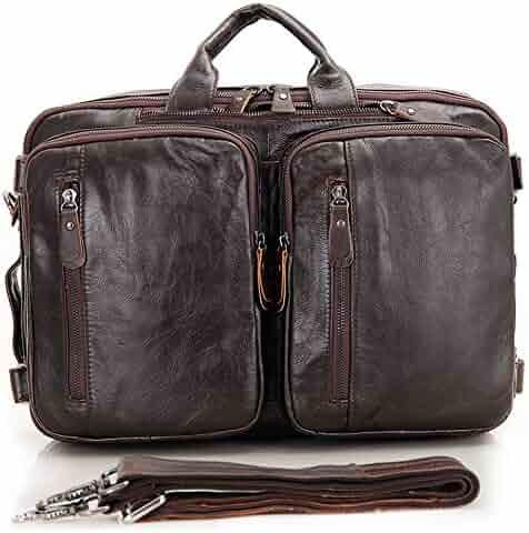 bae5a893191a Men s Messenger Bag Portable Vintage Leather Briefcase Netbook Shoulder  Messenger Crossbody Satchel Bag Organizer Brown