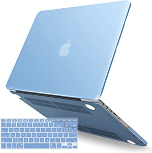 IBENZER MacBook Pro 13 Inch Case 2015 2014 2013 end 2012 A1502 A1425, Hard Shell Case with Keyboard Cover for Old Version Apple Mac Pro Retina 13, Airy Blue, R13ARBL+1A