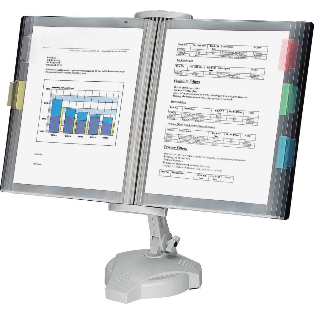 636643 Fellowes, FEL22300, Desktop Reference Rack, 1 Each, Platinum by 636643
