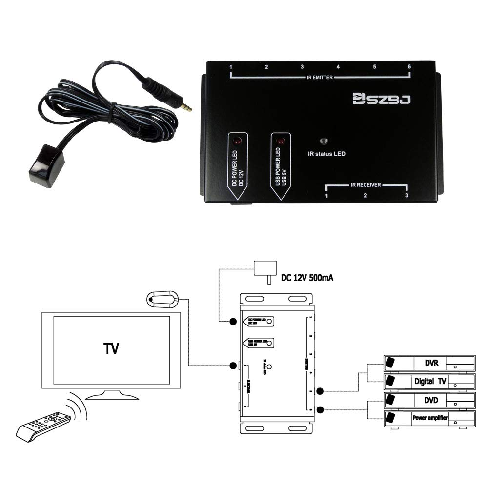 Ir Repeater Remote Infrared Control Directv Genie Wiring Diagram Xbox One Extender Kit Home Audio Theater