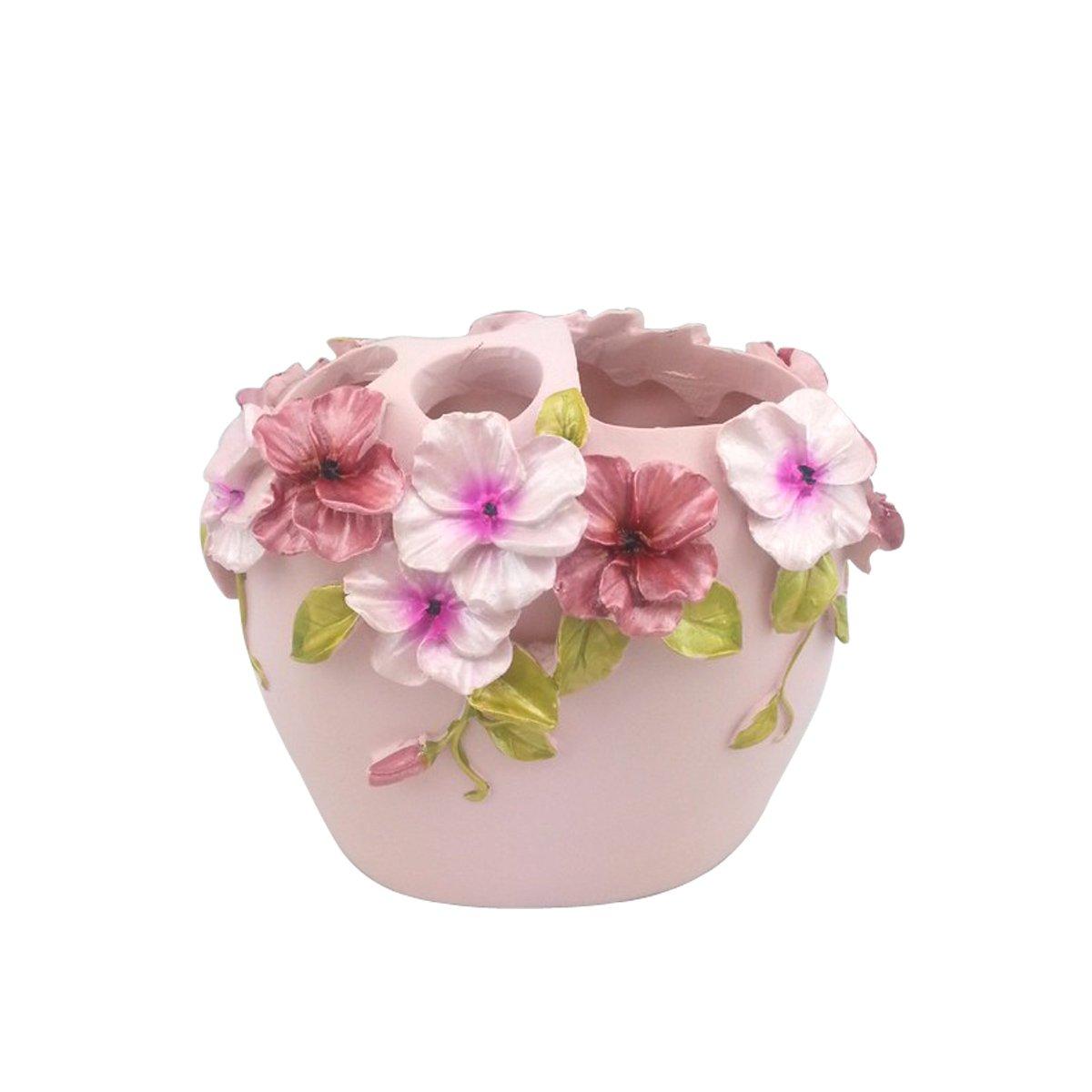 Hqdeal Bad Accessoires Set 5 Teilig Blumen Design Bloom