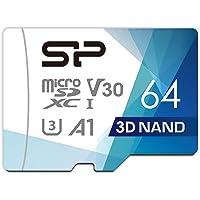 シリコンパワー microSD カード 64GB class10 UHS-1 U3 対応 最大読込100MB/s 4K対応 Nintendo Switch 動作確認済 3D Nand 2019年モデル 【Amazon.co.jp限定】