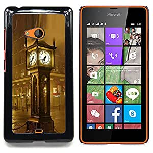 Jordan Colourful Shop - Architecture Big Ben rain For Microsoft Nokia Lumia 540 N540 - < Personalizado negro cubierta de la caja de pl??stico > -
