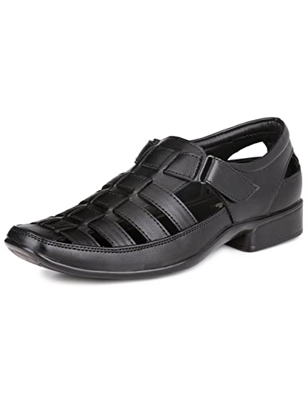 Mactree Men's Black Sandals-10 UK/India (44 EU)(mac5501black_10)