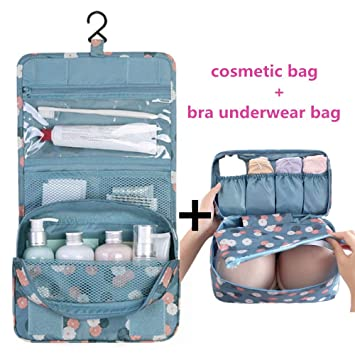 f8bfd9e7707f Janisfirst Toiletry Bag Multifunction Cosmetic Bag Portable Makeup Pouch  Waterproof Travel Hanging...