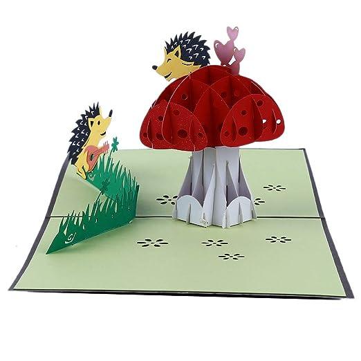 Yinew Tarjetas De Felicitación En 3d Dibujos Animados
