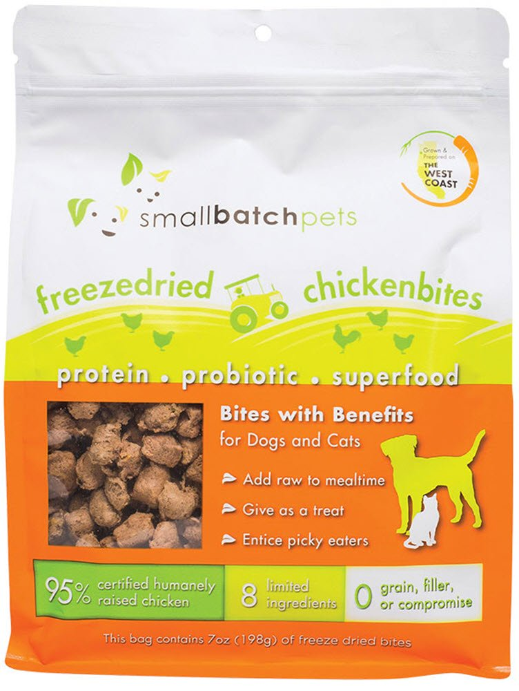 Small Batch Small Bites Freeze Dried Dog Food (Chicken, 7 oz.) by Small Batch
