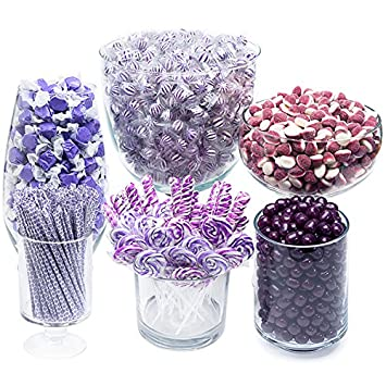 amazon com purple candy kit party candy buffet table grocery rh amazon com