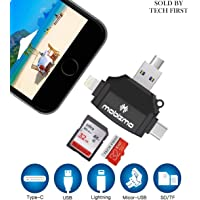 Mobizmo Pro Plus 4 in 1 OTG Card Reader Lightning/Type C/Micro USB/USB. (Black)