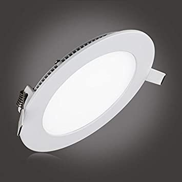 Low profile led ceiling lightlain 12w led panel light dimmable round light fixtures recessed