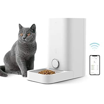 Buy PETKIT Automatic Cat Feeder, Wi-Fi Enabled Smart Feed Pet Feeder for Cat  and Small Dog, Smartphone App for iOS and Android, Work with Alexa, Portion  Control, Fresh Lock System Auto Cat