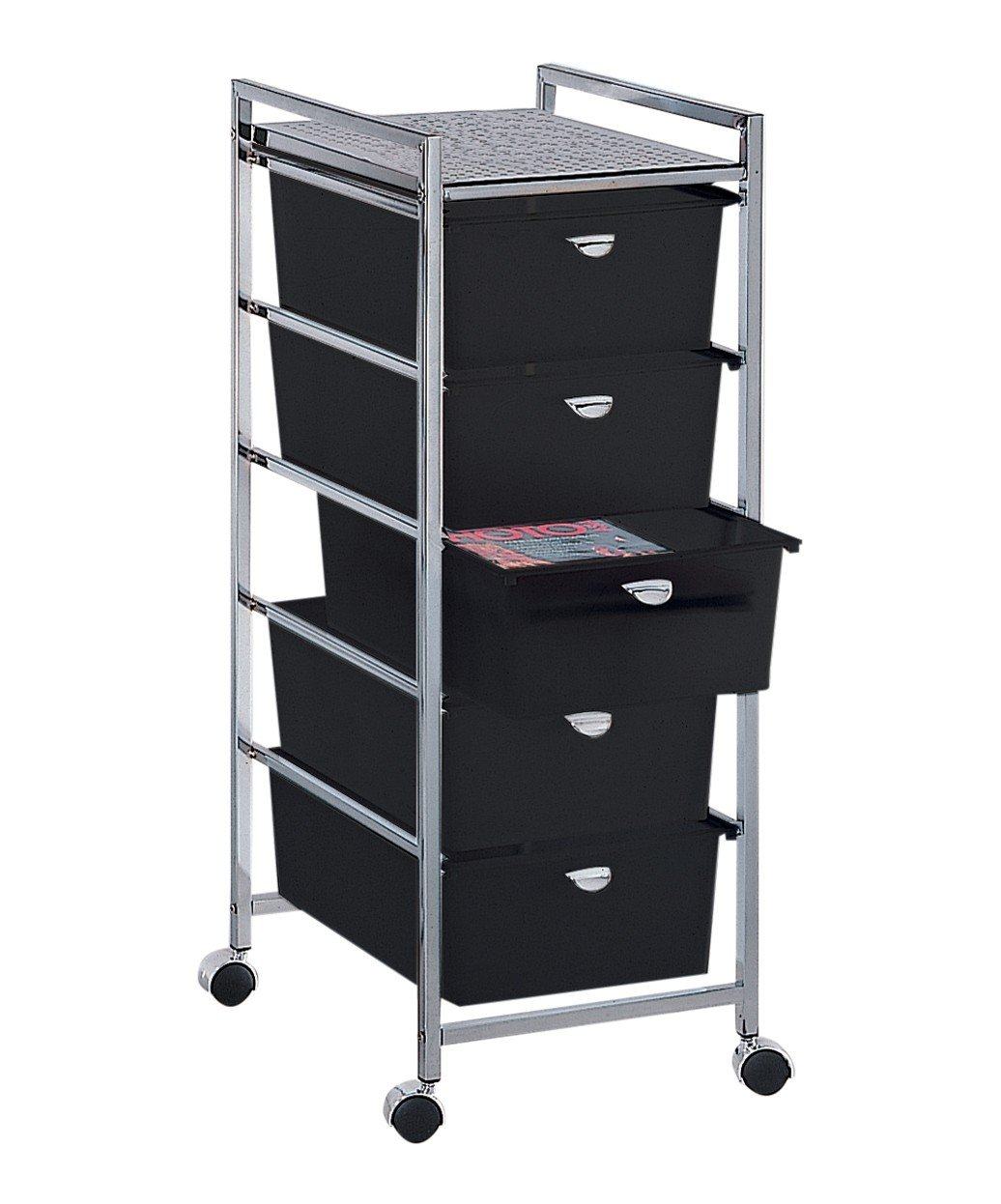 PIBBS 5 Drawer Cart Metal Frame (Model: D25) [Health and Beauty]