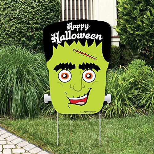 Big Dot of Happiness Halloween Monsters - Party Decorations - Frankenstein Halloween Party Welcome Yard Sign -