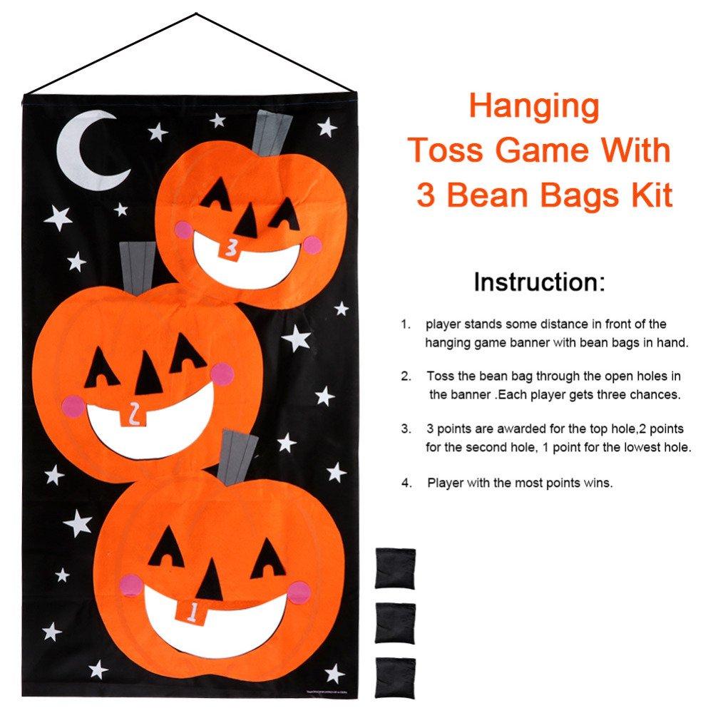 Amazon.com: gigamax (TM) calabaza Hanging Toss juego con 3 ...