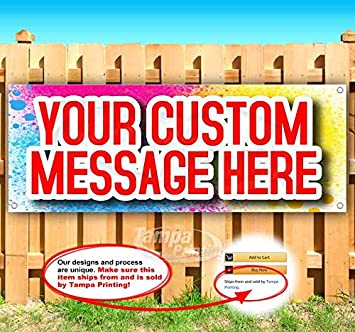 Store Custom Design 13 oz Heavy Duty Vinyl Banner Sign with Metal Grommets Flag, Many Sizes Available New Advertising