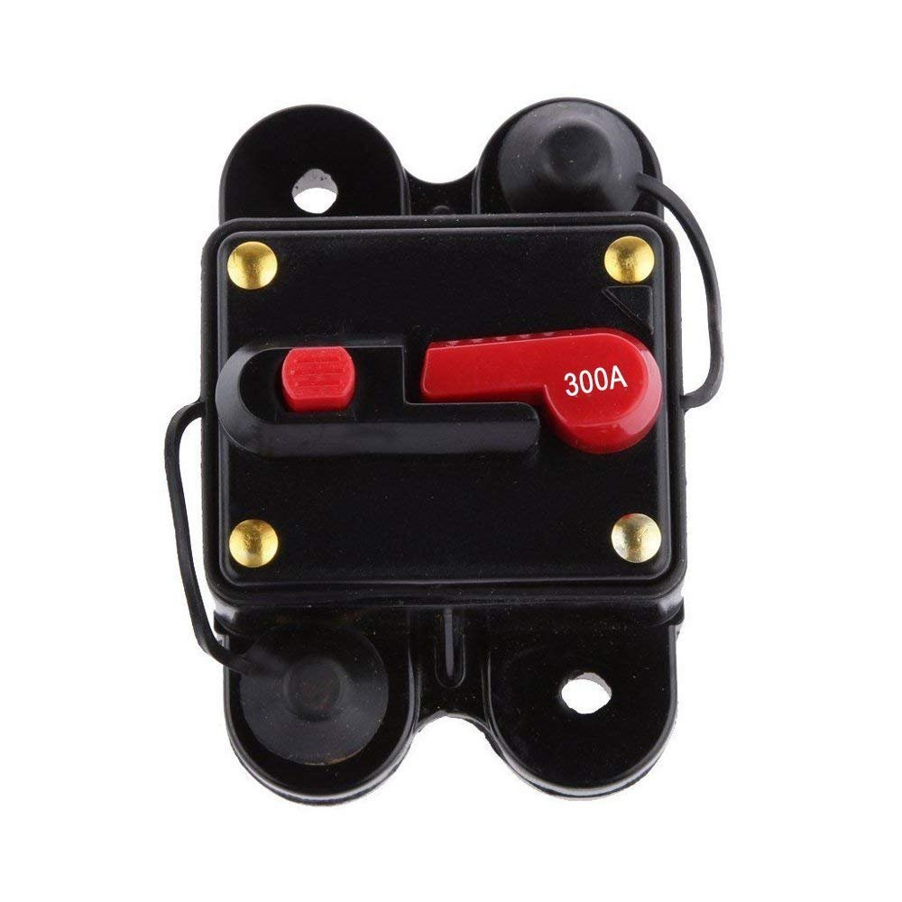 ANJOSHI Circuit Breaker 300amp with Manual Reset Home Solar System Fuse Holder for Car Audio and Amps Protection 12V-24V DC Reset Fuse Inverter Replace Fuses