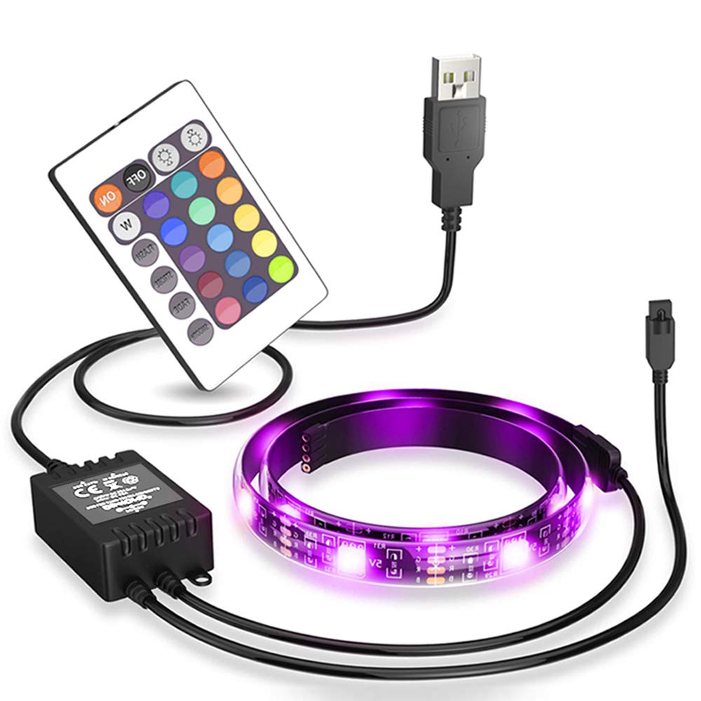 USB LED Strip Backlight (78in / 2m),for HDTV Color RGB LED TV Backlight Strip with Dimmer for Bias Lighting HDTV Wall Mount Stand Home Theater Decor,Flat Screen TV LCD, Desktop Monitors, Orange-1