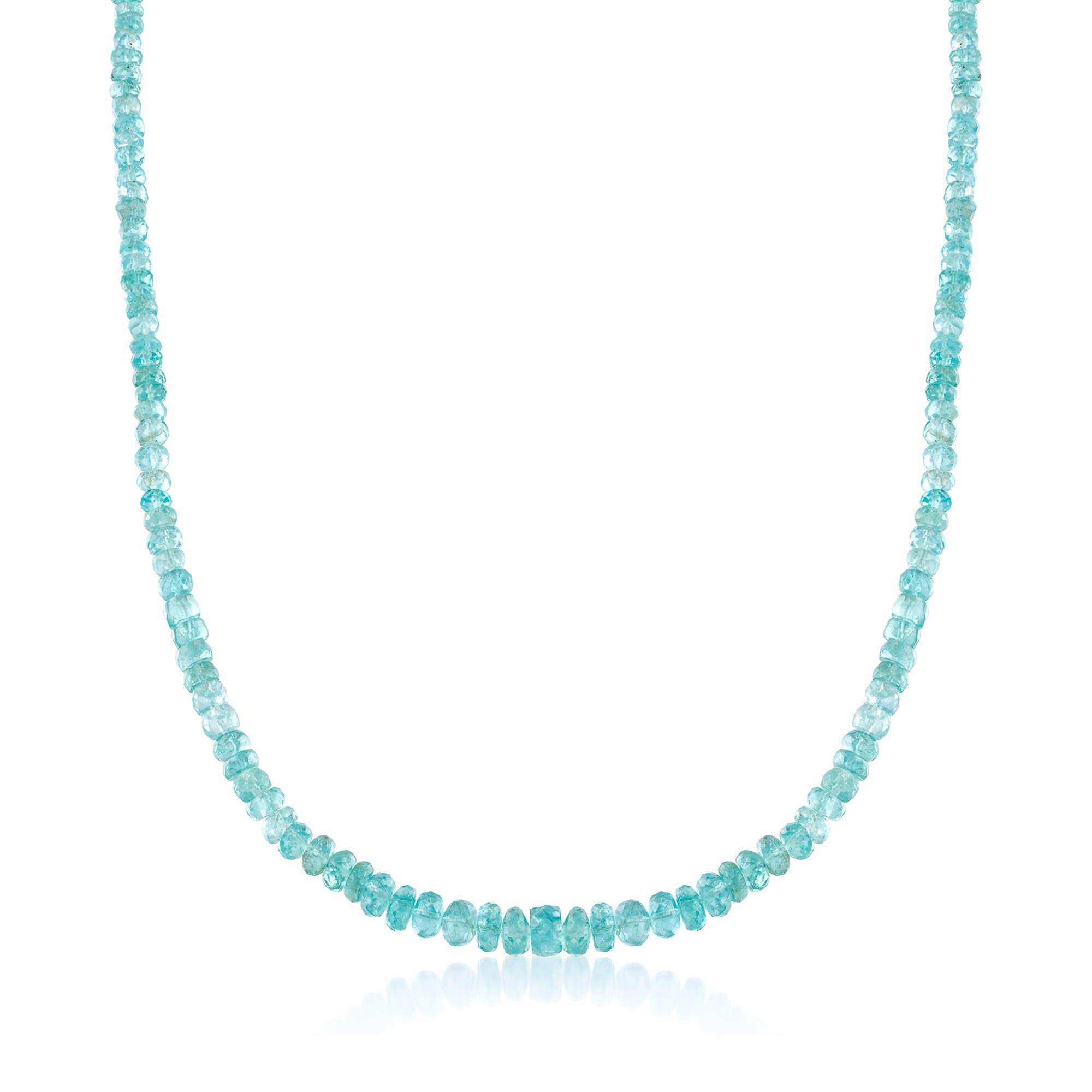 Ross-Simons 95.00 ct. t.w. Teal Apatite Bead Necklace With Sterling Silver