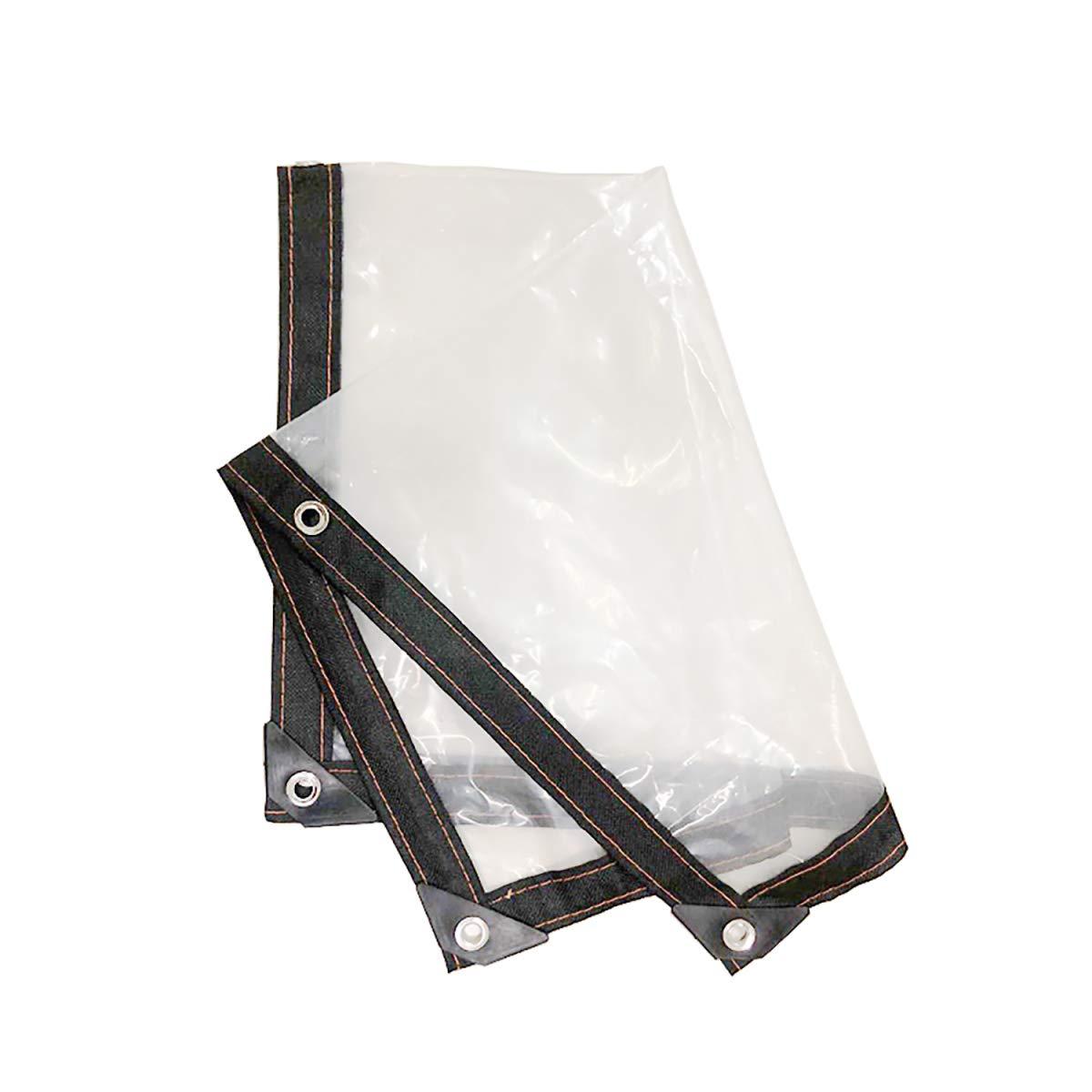 GUHAIBO Bâche Bâche avec Oeillets - Toile Plastique Transparente résistante à l'eau pour Rideaux de Balcon, Bâche à bûches,2x1m Bâche à bûches guhaibo.com