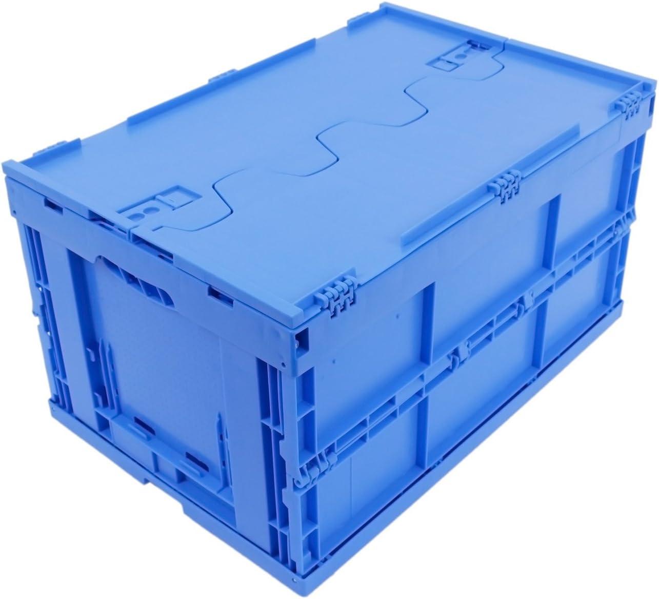CAJA PLEGABLE (CAJA PLEGABLE CON TAPA 61L azul): Amazon.es: Bricolaje y herramientas