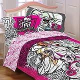 Monster High Twin Comforter with a Pillow Sham Set