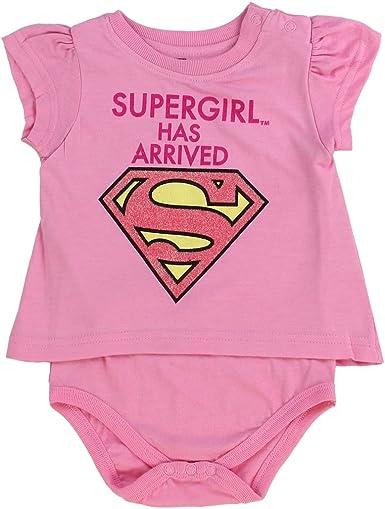 DC Comics Baby Girls Short Sleeve LL Supergirl 2 Piece Cotton Infant