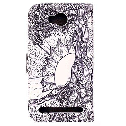 Mobile Phone Cases&decorate Huawei Y6 Pro Embossment árbol Wind Chimes patrón Horizontal Flip caja de cuero con el titular y ranuras para tarjetas y cartera ( SKU : MLC0768A ) MLC0768B