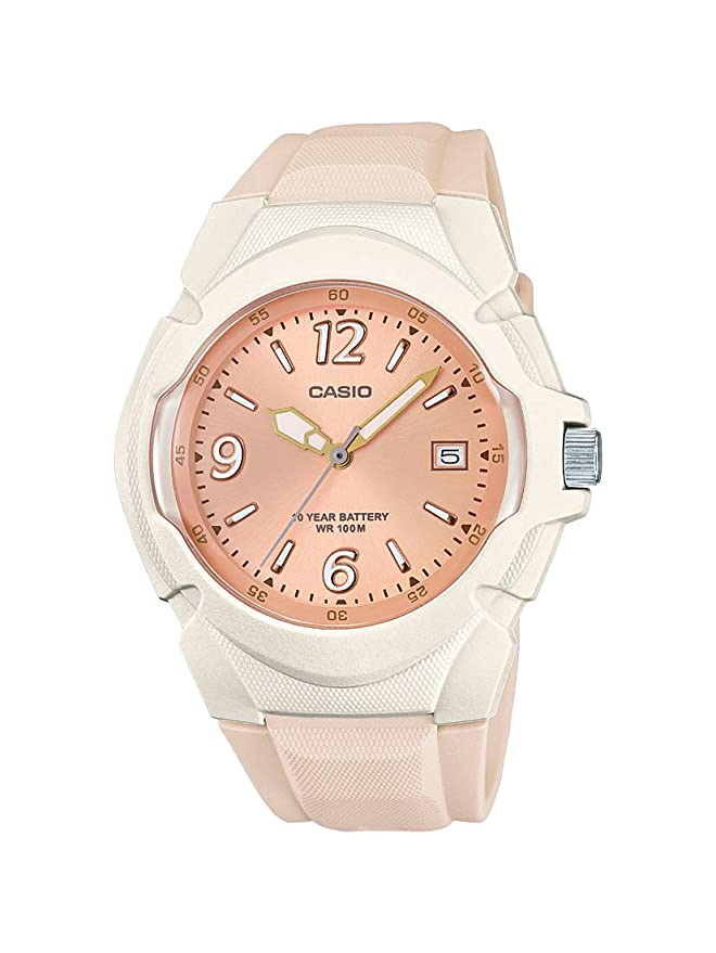 Amazon.com: Casio Womens Sporty Stainless Steel Quartz Watch with Resin Strap, Champagne, 15 (Model: LX-610-4AVCF: Watches