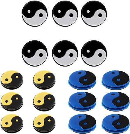 6 Stück Yin und Yang Tennisschläger Vibrationsdämpfer Stoßdämpfer Dämpfer