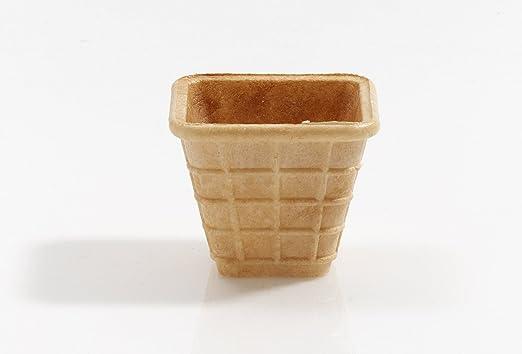 Cono de Helado | 40ml | 56xØ48x48mm | 33 pieza | Comestible Moldes para Muffin y