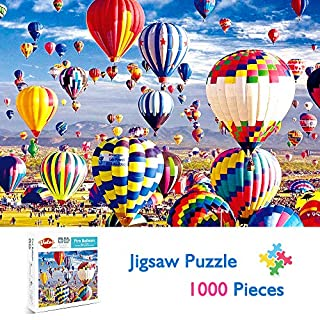 VATOS Puzzles for Adults 1000 Piece | Jigsaw Puzzle | Hot Air Balloon Puzzles | Fire Balloon Puzzle Game-Large Puzzle Game Artwork for Adults Teens