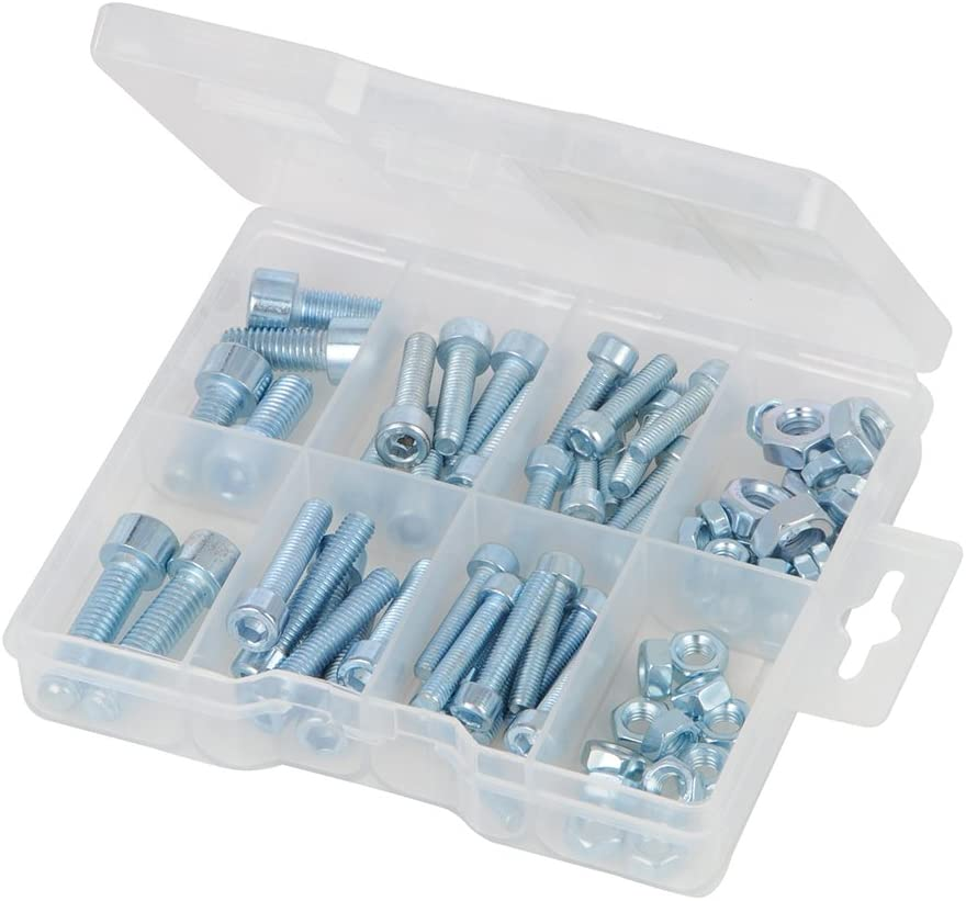 Fixman 396575 Hutmuttern-Sortiment 40-tlg silver