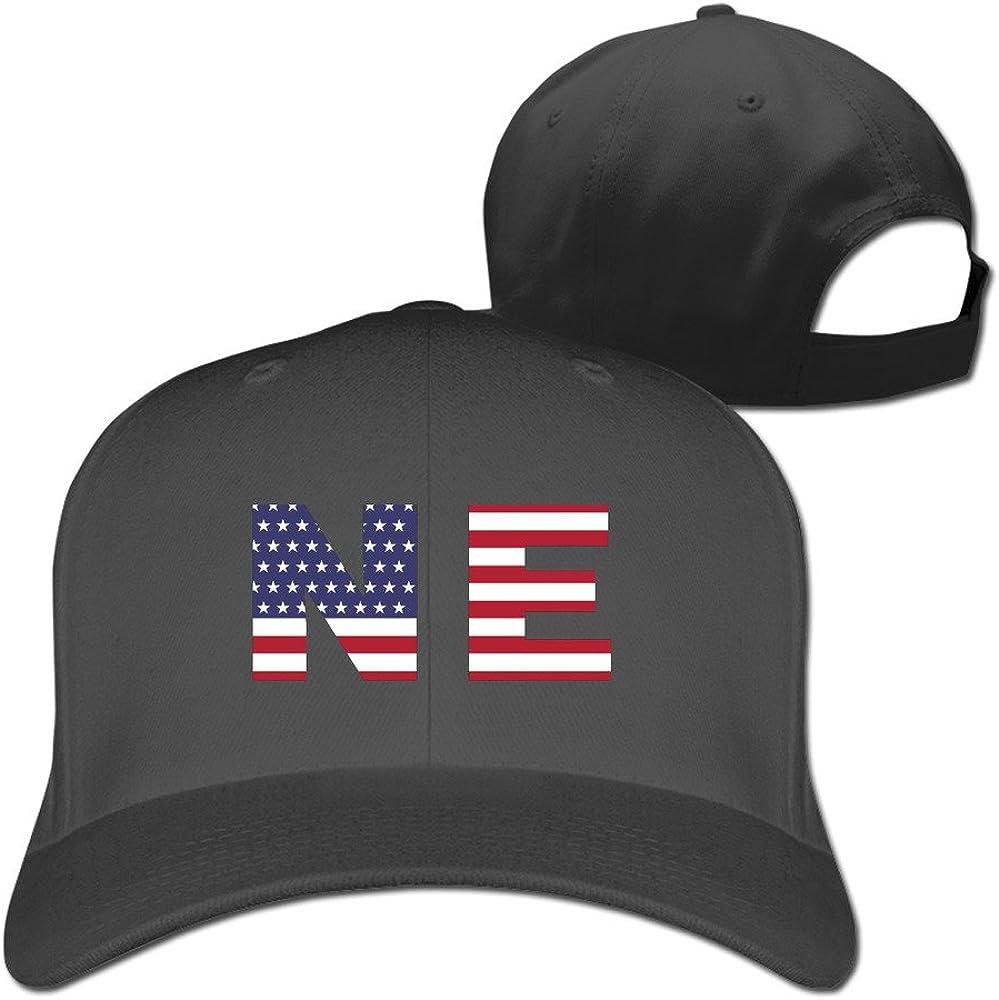 Ne State Of Nebraska Flag Adjustable Fitted Cap Baseball Hat