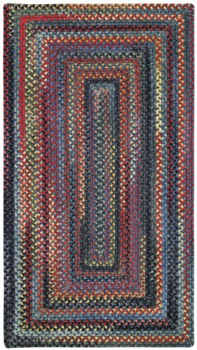 Capel Rugs High Rock Rectangle Braided Area Rug, 8 x 11 , Blue