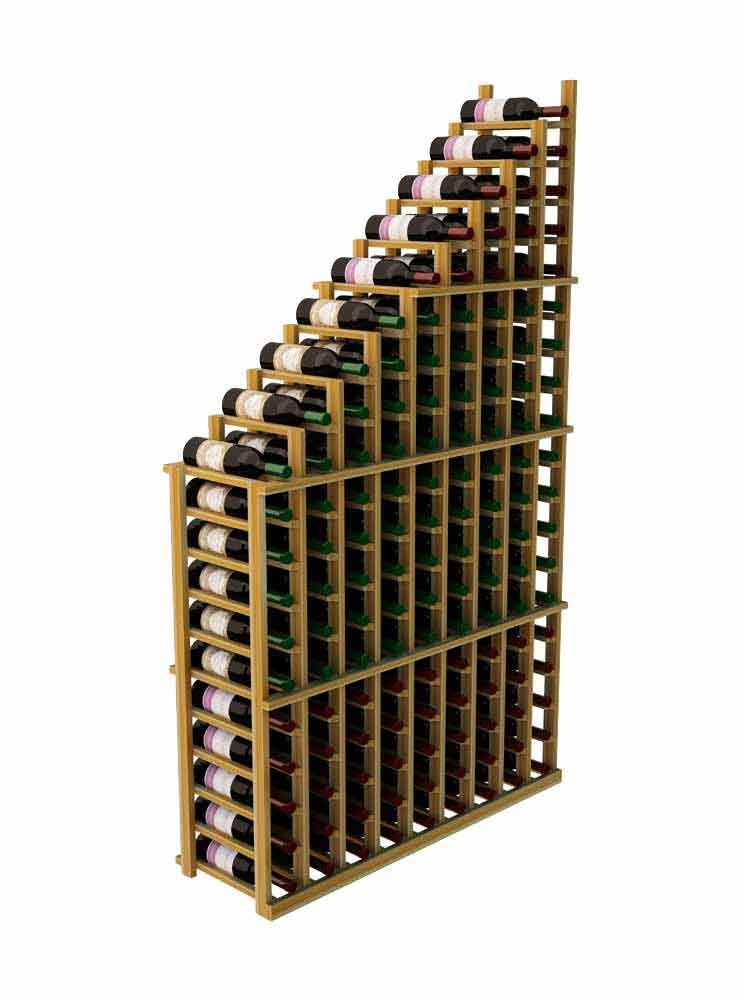 Wine Cellar Innovations DR-UN-WATER(L)-A3 Designer Series Left Falling Waterfall Wine Rack, Premium Redwood, Without Lacquer Finish, Unstained