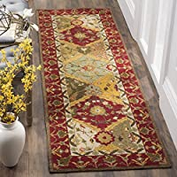 Safavieh Easy to Care Collection EZC761A Handmade Multi and Red Runner (26 x 8)